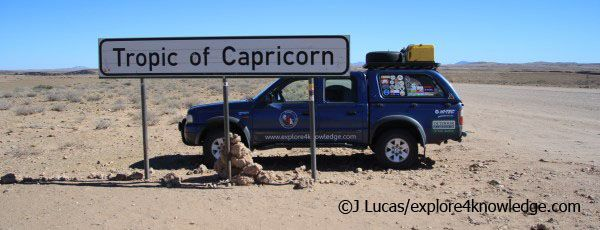 Tropic of Capricorn #Awesome #Namib #Desert @Ford Motor Company Motor Vehicles @Ford Motor Company Motor Company  @Eileen Fronterhouse Runner Explore4Knowledge #e4k