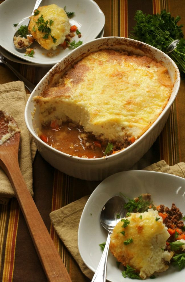 DELICIOUS SHEPHERD'S PIE WITH CAULIFLOWER TOPPING (GAPS, PALEO, GRAIN-FREE, DAIRY-FREE OPTION) #Skinny4LifeEats
