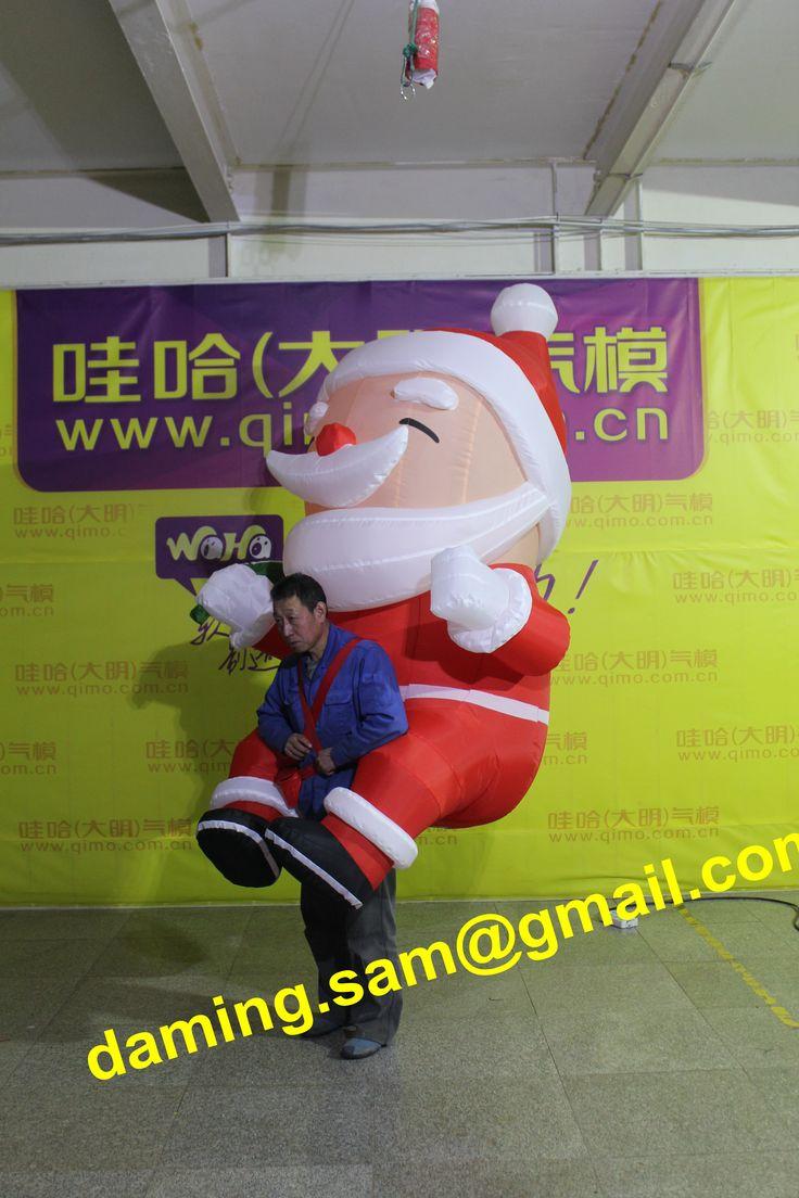 christmas inflatable santa puppet Inflatable santa