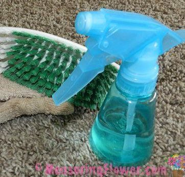 How to Naturally Clean Vomit Off Carpet or Furniture {Plus a Post-Vomit Cleaner Recipe} - Measuring Flower how to afford a baby #baby #babies