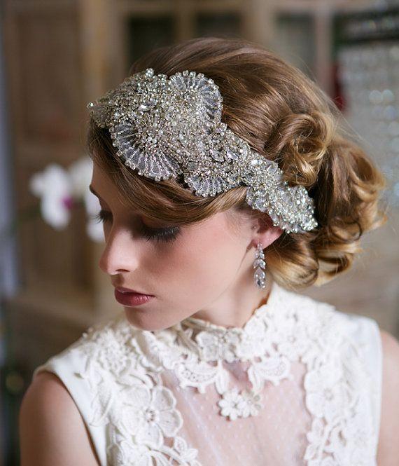 Silver+Swarovski+Crystal+Headpiece+Art+Deco+by+GildedShadows