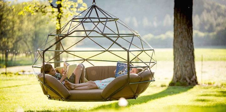 Outdoor Geometric Structure is the World's First Hanging Zome - My Modern Met
