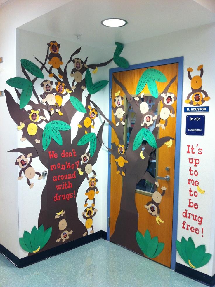 Printable Halloween Classroom Decorations ~ My classroom door for drug free week ideas