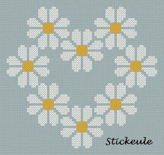 ova germanska strana, ubavo se gledaat slikite ako pritisnes na niv se zgolemuvaat daisy heart cross stitch