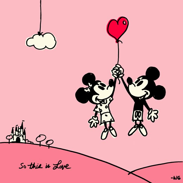 Happy Valentines Day from the mice who love you most! Click here to download this wallpaper from the Disney Parks Blog: http://di.sn/i88   #valentines #WaltDisneyWorld