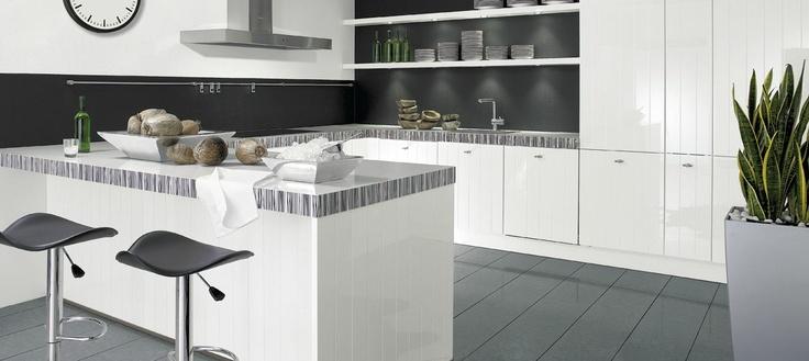 Design Keuken Sale : Moderne keuken met grijze keukenvloer