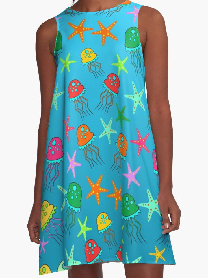 Cute #jellyfish and #sea #stars by cocodes #summer #dress