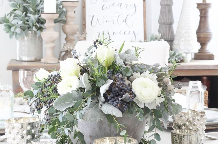 Frosted Winter Tablescape