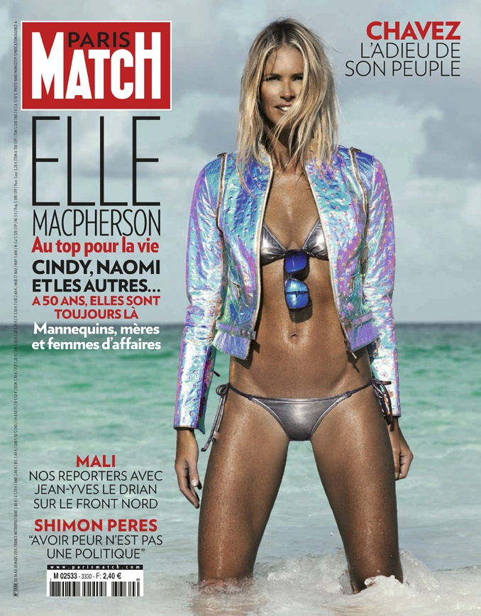 paris match n 3330 du 14 mars 2013 dition internationale avec elle macpherson en couverture. Black Bedroom Furniture Sets. Home Design Ideas