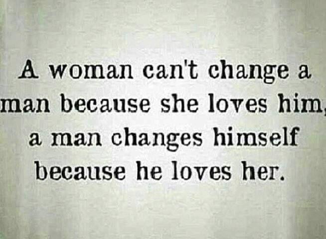 now, what's the quality of ur love 4 ur man? will he want 2 change himself b/c of u? {#sundaytweets}{#blogzine} ¶