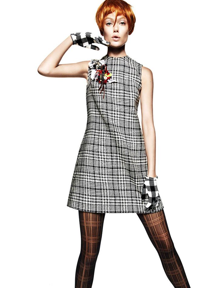 Frida Gustavsson Gets Animated in Plaid for Greg Kadel in Vogue China Staff, fashiongonerogue.com Pretty in Plaid – Frida Gustavsson shows t...