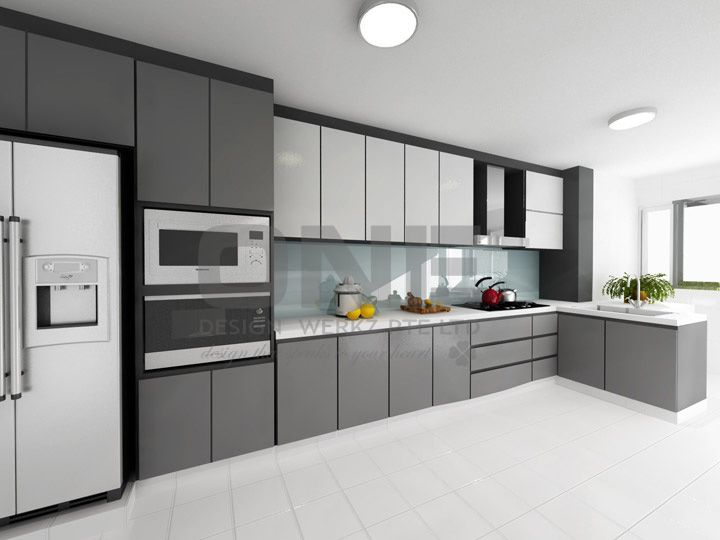 Hdb kitchen home decor pinterest grey design and for Modern apartment kitchen design