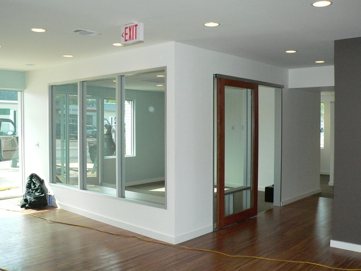 Closed Office With Sliding Door Office Design