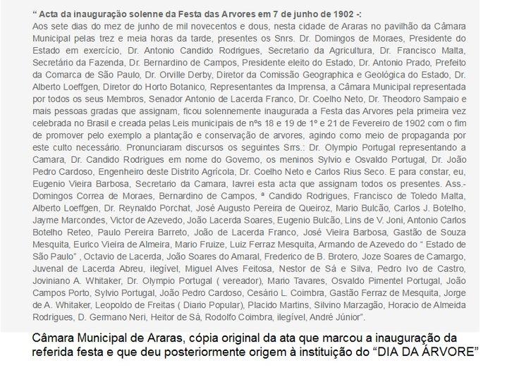 19/09/2015 - ata Festa das Árvores, em Araras, 1902: