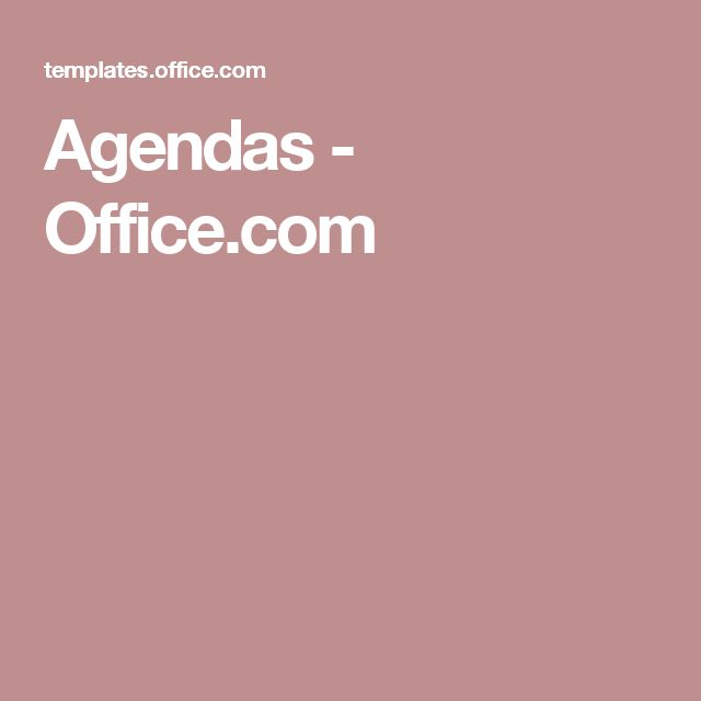 8 best Agendas images on Pinterest Microsoft word, Board and - business meeting report template