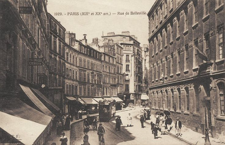 La rue de Belleville vers 1900.