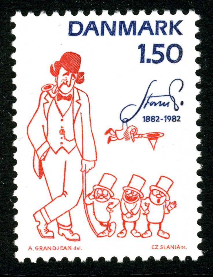 Robert Storm Petersen (Storm P.) , Danish stamp