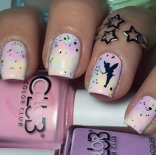 Tinkerbell nails                                                                                                                                                                                 More
