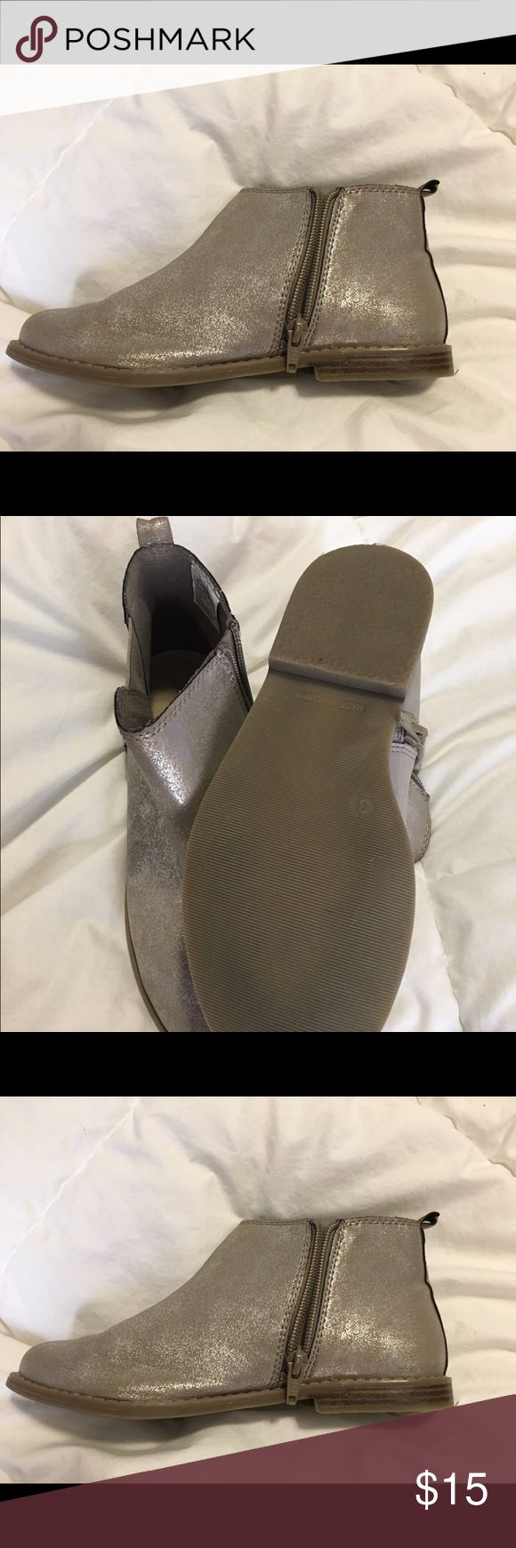 GAP Girls Chelsea boots Silver Chelsea Gap boots. Rarely worn. GAP Shoes Boots