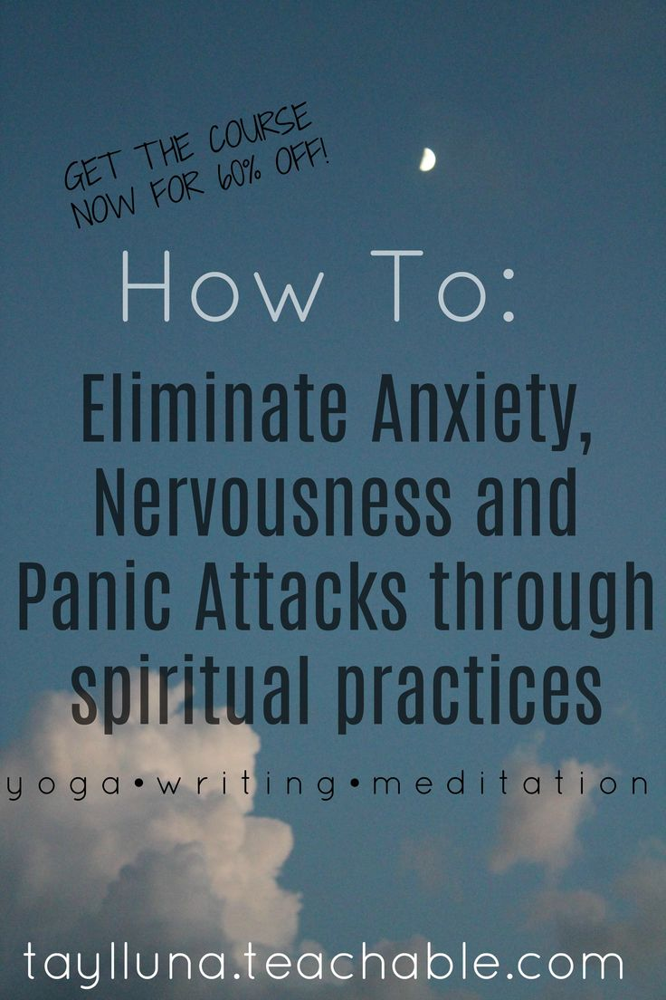 Learn how to eliminate your anxious feelings through spiritual practices like yoga, writing, meditation and more!