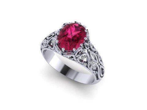 Custom Coloured Stone Ring