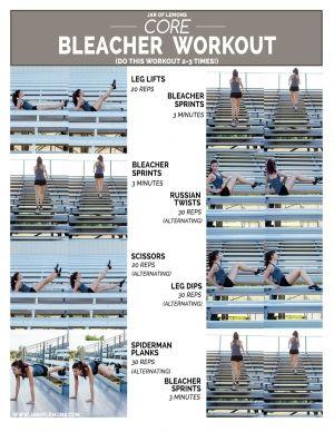 Core Bleacher Workout!