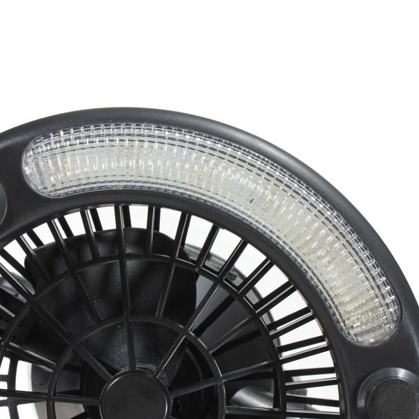 2 In 1 18 Led Camping Fan Light Tent Lamp Lantern With