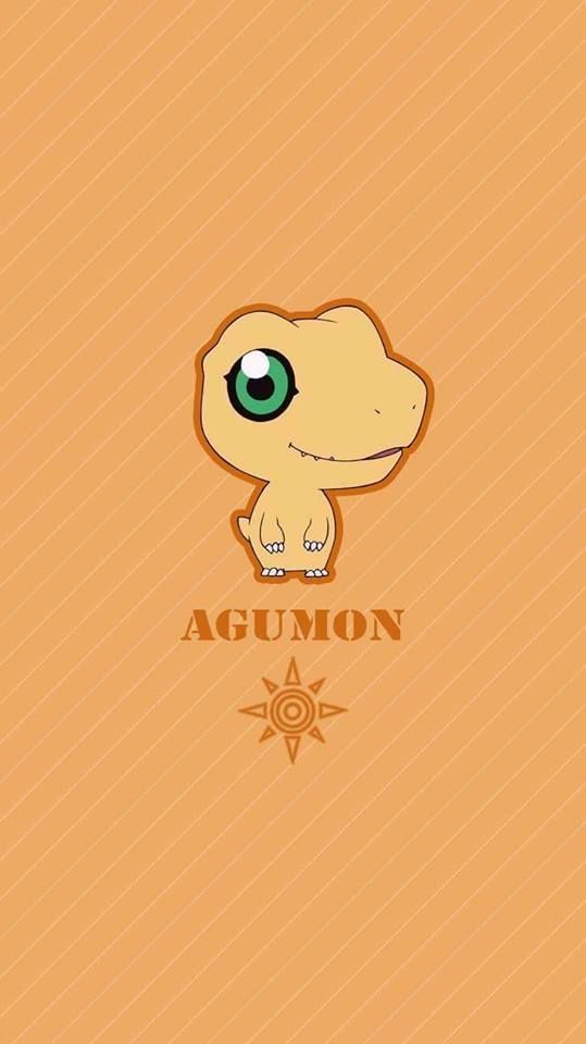 Agumon chibi. Coragem. Digimon Adventure Tri.