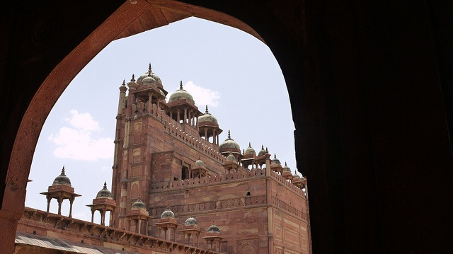 "Inde - Fatehpur Sikri, la ""Buland Darwaza"" (""Porte Sublime"")."