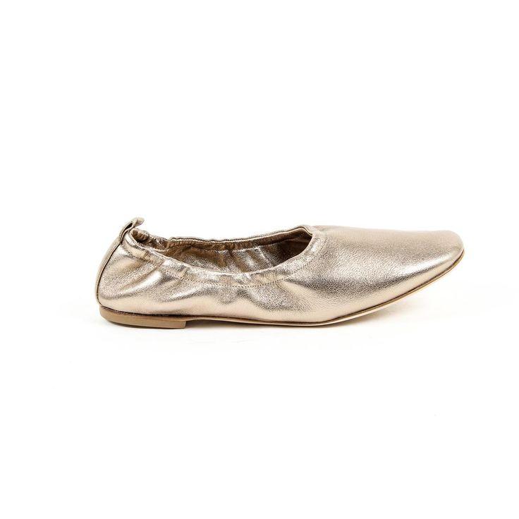 Versace 19.69 Abbigliamento Sportivo Srl Milano Italia Womens Ballerina 302999 NAPPA METAL BEIGE