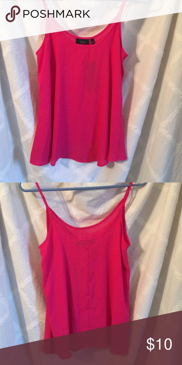 Bright pink cami Bright pink cami with adjustable straps. 100% polyester. Size S. New. Apt. 9 Tops Camisoles
