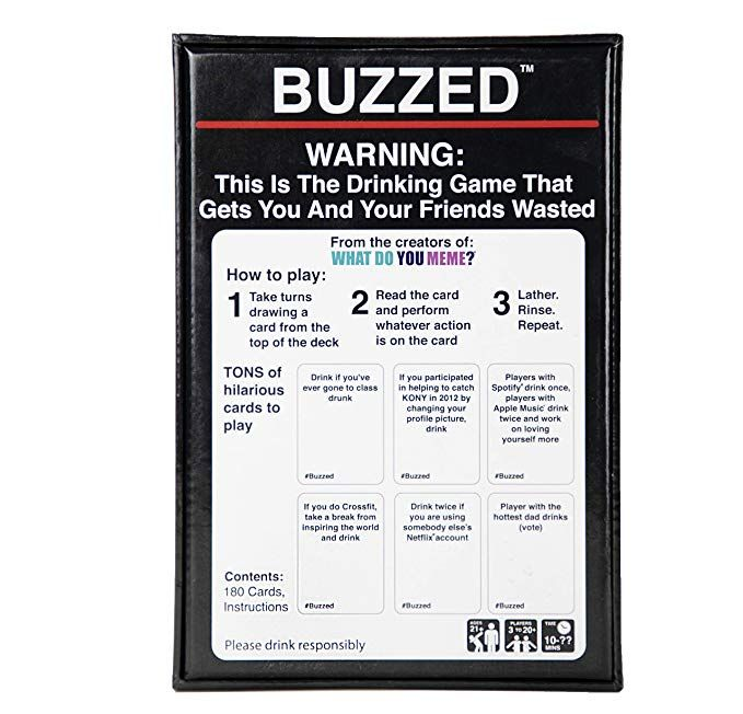 Buzzed This Is The Drinking Game That Gets You And Your Friends Wasted Toys Games Amazon Com Drink Drinking Drinking Games Drinking Card Games Games