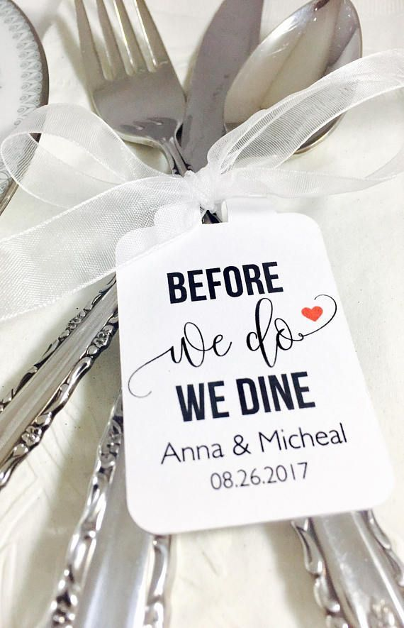 Wedding Rehearsal Dinner Before We Do We Dine Silverware Tags Wedding Table Decor Set of 12