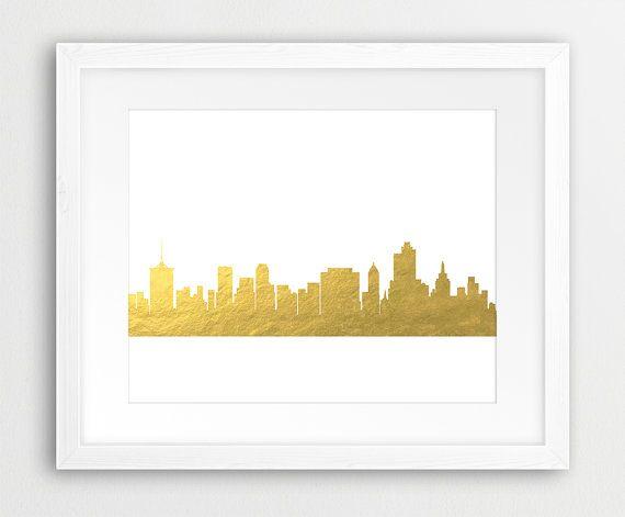 Tulsa Skyline Printable File Tulsa Oklahoma Cityscape by synplus