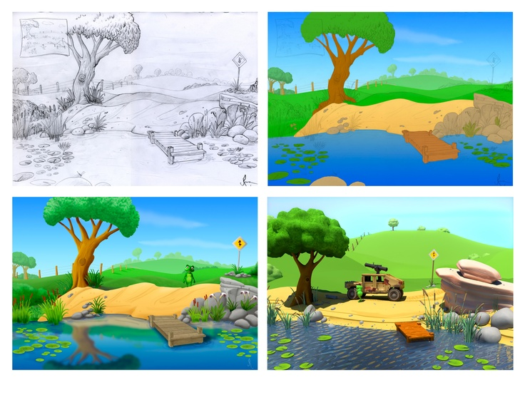 #Concept #art for Life At The Pond demo pitch