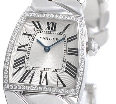Cartier La Dona Diamond 18kt White Gold Large Ladies Watch WE60019G