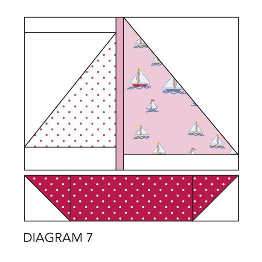 Sailboat quilt block. FINALLY found one wasn't to use this block for a pirate quilt. All pirate and mariner fabrics.