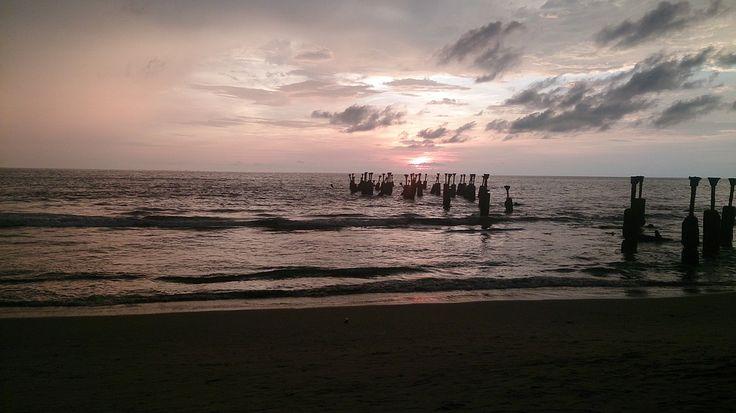 Beach, Fekvő, Utazás, Ocean, Orange, Romantikus, Sky
