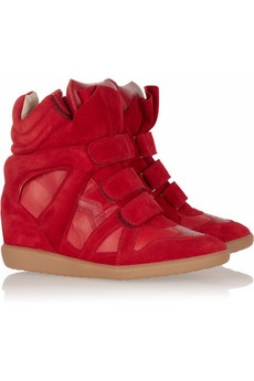 Isabel MarantShoes, Marant Bekett, Isabelmarant, Red, Marant Bekket, Suede Sneakers, Su Sneakers, Isabel Marant, Wedges Sneakers