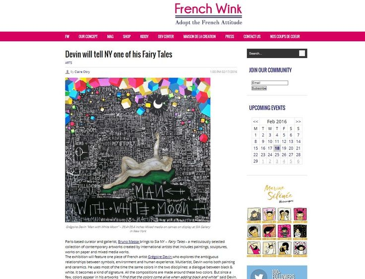 New article in Frenchwink magazine for the New York exhibition at SIA Gallery next Feb 24th.