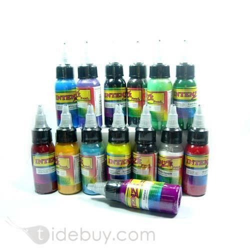 14 botellas de tinta para tatuar, diferentes colores 30ml / botella (Envío Gratuito)