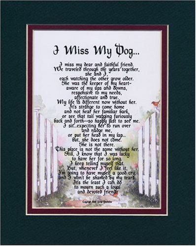 A Dogs Goodbye Poem My Dog Female Touching 8x10 Poem The Verse