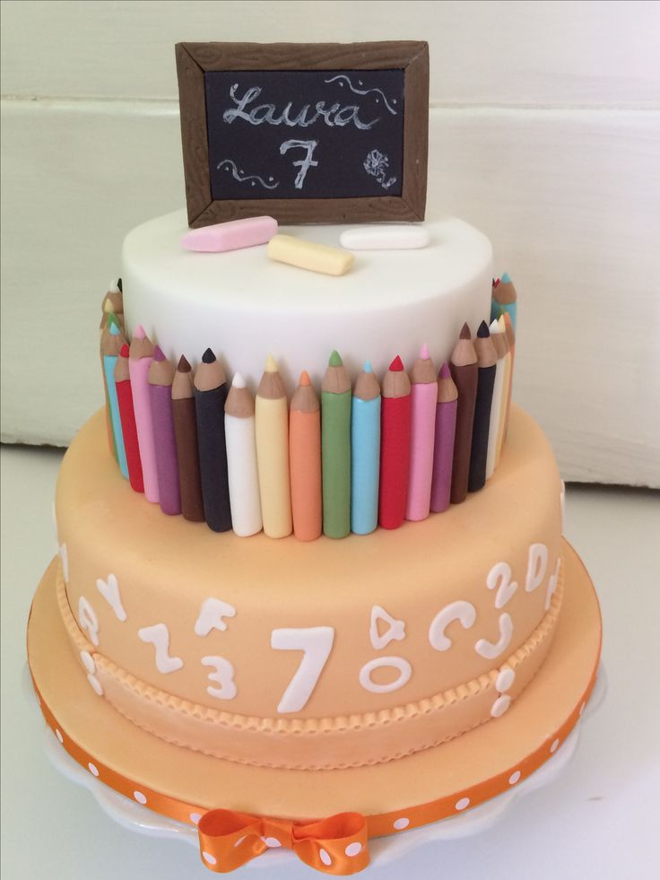 Cake for little schoolgirl