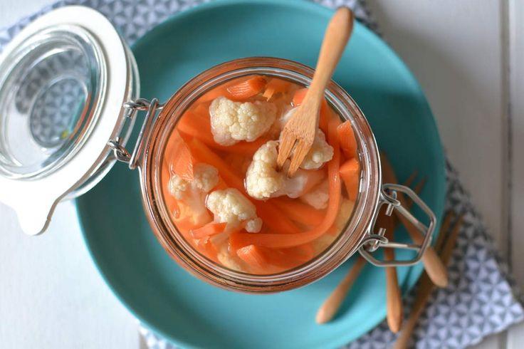 Légumes croquants aigres-doux au vinaigre { Comme des cornichons...! }