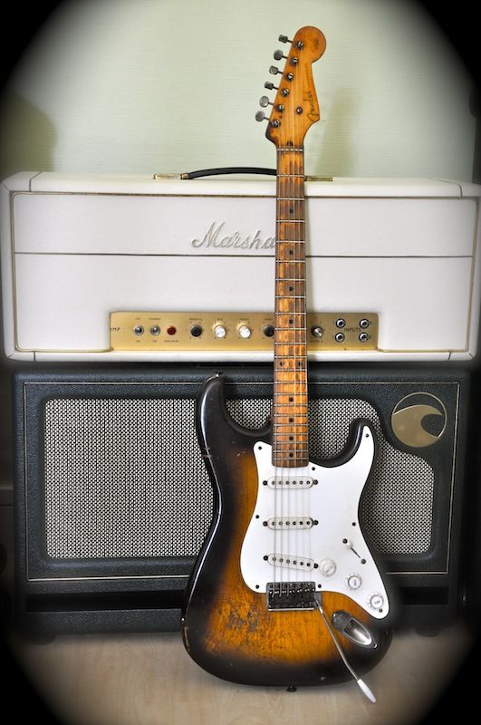 1956 Fender Stratocaster and a Marshall nice - Shared by The Lewis Hamilton Band - https://www.facebook.com/lewishamiltonband/app_2405167945 - www.lewishamiltonmusic.com