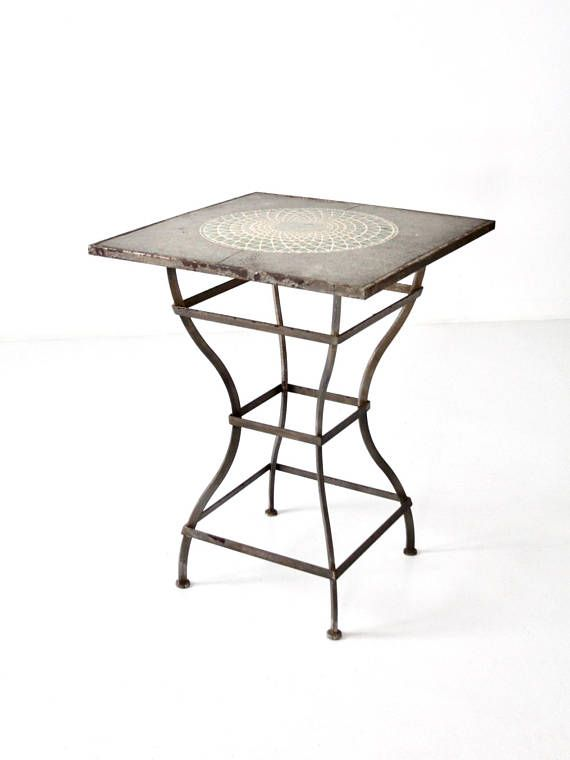 vintage mosaic bar table tall patio table bar tables and stools rh pinterest com au tall patio table with fire pit tall patio table set