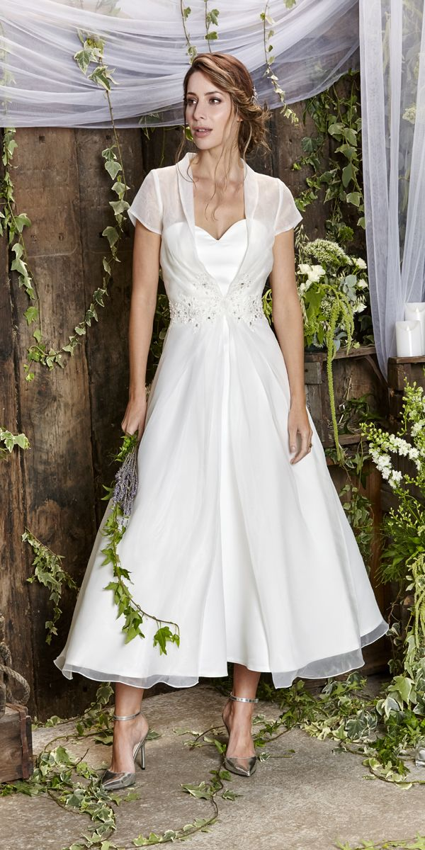Amanda Wyatt Tea Length Wedding Dress 2018 Aloe