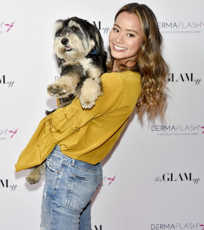 DOG DAYS      Jamie Chung attends The Glam App x DERMAFLASH Host Pre-Oscars Suite at Peninsula Hotel in Beverly Hills, California, on Friday.  Michael Bezjian/WireImage