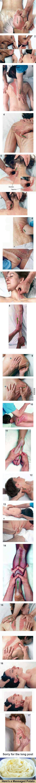 Diese illustrierten Bilder von Therapieanwendungen machen die Wirkung der Griffe sehr deutlich. :-) Mehr davon.