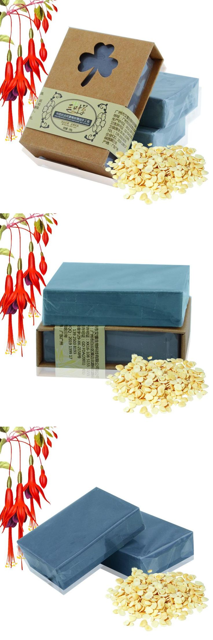 [Visit to Buy] 100g Chinese Herbal Handmade Soap Remove Nose Blackhead Kill Mites Close Pores Cleansing  Facial Soap Free Shipping #Advertisement